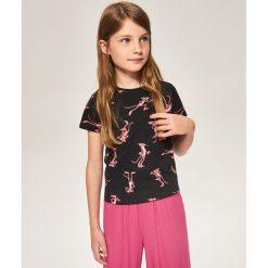 T-shirt w różowe pantery - Czarny. T-shirty damskie marki bonprix. W wyprzedaży za 14.99 zł.