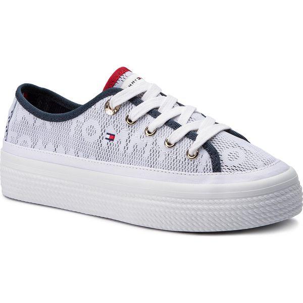 7b2ae947b02ab Tenisówki TOMMY HILFIGER - Jacquard Flatform Sneaker FW0FW04071 ...