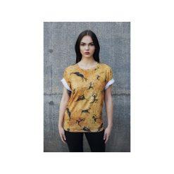 T-shirt Prehistoric. Szare t-shirty damskie Bahabay, z nadrukiem, z bawełny. Za 83.30 zł.