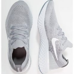 Nike Performance EPIC REACT FLYKNIT Obuwie do biegania treningowe wolf grey/white. Buty sportowe chłopięce Nike Performance, z materiału. Za 549.00 zł.