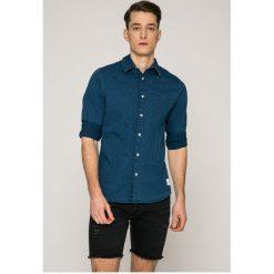 Calvin Klein Jeans - Koszula. Szare koszule męskie Calvin Klein Jeans, z bawełny, z klasycznym kołnierzykiem, z długim rękawem. W wyprzedaży za 279.90 zł.