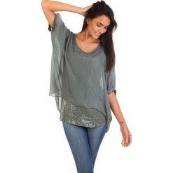 Koszulka w kolorze khaki. T-shirty damskie 100% Soie, klasyczne, z okrągłym kołnierzem. W wyprzedaży za 130.95 zł.