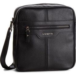 Saszetka LANETTI - RM0127 Black. Czarne saszetki męskie Lanetti, ze skóry ekologicznej, młodzieżowe. Za 99.99 zł.