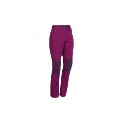 Spodnie turystyczne MH500 damskie. Fioletowe spodnie materiałowe damskie QUECHUA, z elastanu. W wyprzedaży za 69.99 zł.