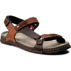 Sandały NIK - 06-0163-00-0-07-00 Jasny Brąz. Brązowe sandały męskie Nik, z materiału. W wyprzedaży za 159.00 zł.