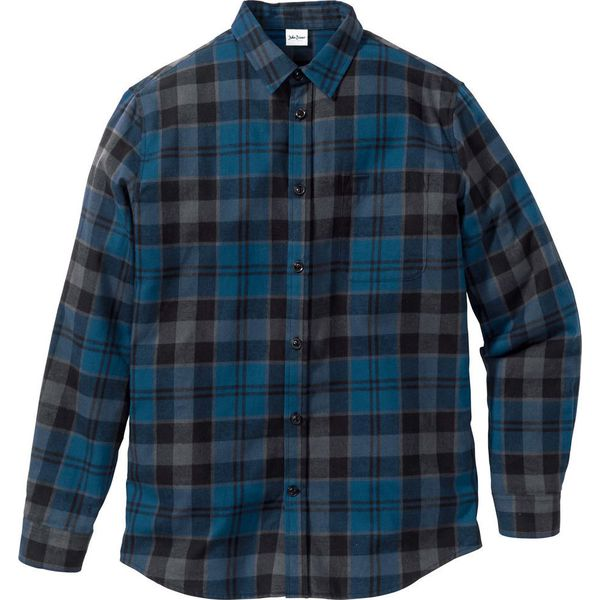 bonprix koszule w kratę flanelowa damska
