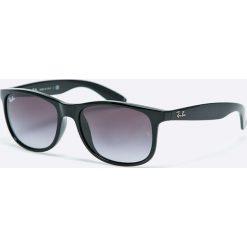 Ray-Ban - Okulary Andy. Szare okulary przeciwsłoneczne męskie Ray-Ban, z materiału. Za 479.90 zł.