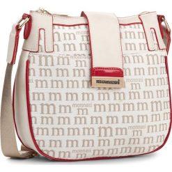 Torebka MONNARI - BAG3210-015 Beige With White. Brązowe listonoszki damskie Monnari, z materiału. W wyprzedaży za 109.00 zł.