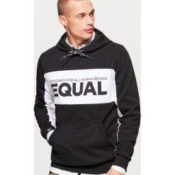 Bluza z kolekcji EQUAL - Czarny. Czarne bluzy męskie Cropp. Za 129.99 zł.