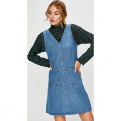 Trendyol - Sukienka. Szare sukienki damskie Trendyol, z bawełny, casualowe. W wyprzedaży za 69.90 zł.
