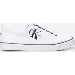 Calvin Klein Jeans - Tenisówki Dora. Szare trampki i tenisówki damskie Calvin Klein Jeans, z jeansu. Za 339.90 zł.