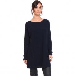 """Sweter """"Marlone"""" w kolorze granatowym. Niebieskie swetry damskie Cosy Winter, ze splotem, z okrągłym kołnierzem. W wyprzedaży za 181.95 zł."""