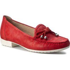 Mokasyny CAPRICE - 9-24610-28 Red Suede Comb 533. Czerwone mokasyny damskie Caprice, z materiału. W wyprzedaży za 219.00 zł.