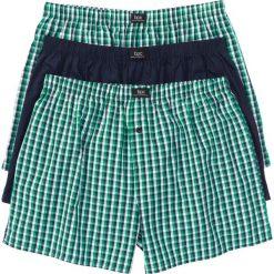 Bokserki z tkaniny (3 pary) bonprix ciemnoniebiesko-zielony w kratę. Bokserki męskie marki NABAIJI. Za 59.97 zł.