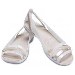Crocs Sandały Damskie Isabella Huarache 2 Flat W, Oyster/Cobblestone w6 (36,5). Szare sandały damskie Crocs. Za 255.00 zł.