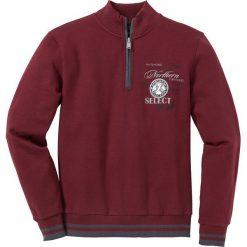 Bluza ze stójką Regular Fit bonprix czerwony rubinowy. Czerwone bluzy męskie bonprix, z nadrukiem. Za 109.99 zł.