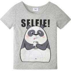 T-shirt bonprix jasnoszary melanż. T-shirty i topy dla dziewczynek marki bonprix. Za 24.99 zł.