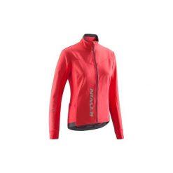 Kurtka na rower szosowy 500 damska. Czerwone kurtki damskie B'TWIN, z elastanu. Za 139.99 zł.