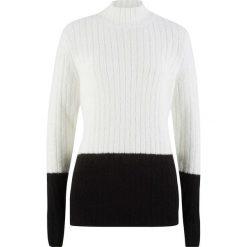 Sweter ze stójką bonprix biel wełny - czarny. Swetry damskie marki KALENJI. Za 59.99 zł.