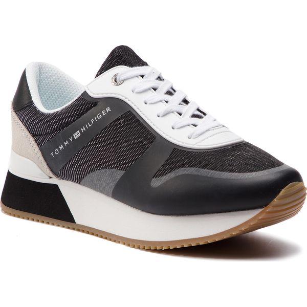 29a5666995350 Sneakersy TOMMY HILFIGER - Glitter City Sneaker FW0FW03772 Black 990 ...