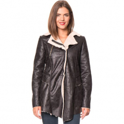 """Płaszcz """"Ines"""" w kolorze czarnym. Czarne płaszcze damskie Assuili, na zimę, klasyczne. W wyprzedaży za 227.95 zł."""