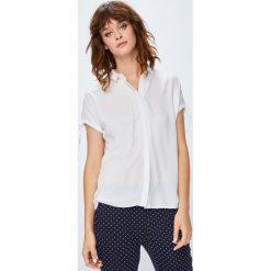 Medicine - Koszula Basic. Szare koszule damskie MEDICINE, z tkaniny, casualowe, z klasycznym kołnierzykiem, z krótkim rękawem. W wyprzedaży za 49.90 zł.