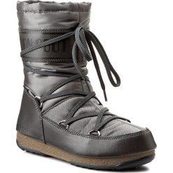 Śniegowce MOON BOOT - Soft Shade Mid 24004600002  Antracite. Szare kozaki damskie Moon Boot, z materiału. Za 559.00 zł.