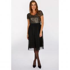 """Sukienka """"Waouh"""" w kolorze czarnym. Czarne sukienki damskie Scottage, z tiulu, klasyczne. W wyprzedaży za 108.95 zł."""