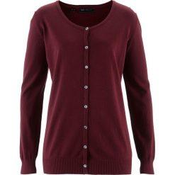 Sweter rozpinany bonprix czerwony klonowy. Czerwone kardigany damskie bonprix. Za 54.99 zł.