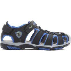 Czarno-Niebieskie Sandały Hiking Trail. Czarne sandały chłopięce Born2be, z materiału. Za 49.99 zł.