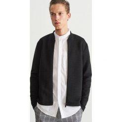 Rozpinana bluza ze stójką - Czarny. Czarne bluzy męskie Reserved. Za 139.99 zł.