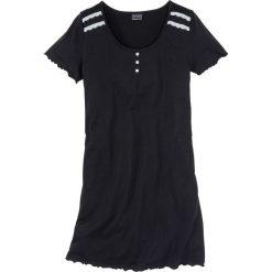Koszula nocna bonprix czarno-biel wełny. Czarne koszule nocne damskie bonprix, z wełny. Za 34.99 zł.