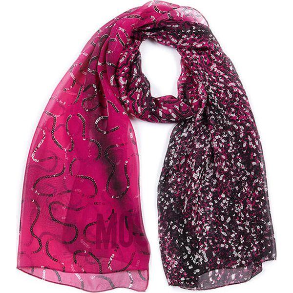 e0e45ce6a Szal w kolorze różowo-czarno-srebrnym - (D)70 x (S)180 cm - Szaliki ...