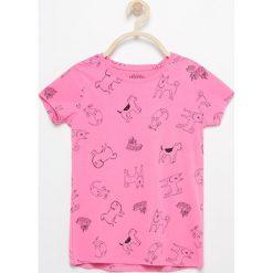 T-shirt we wzory - Różowy. T-shirty damskie marki bonprix. W wyprzedaży za 14.99 zł.