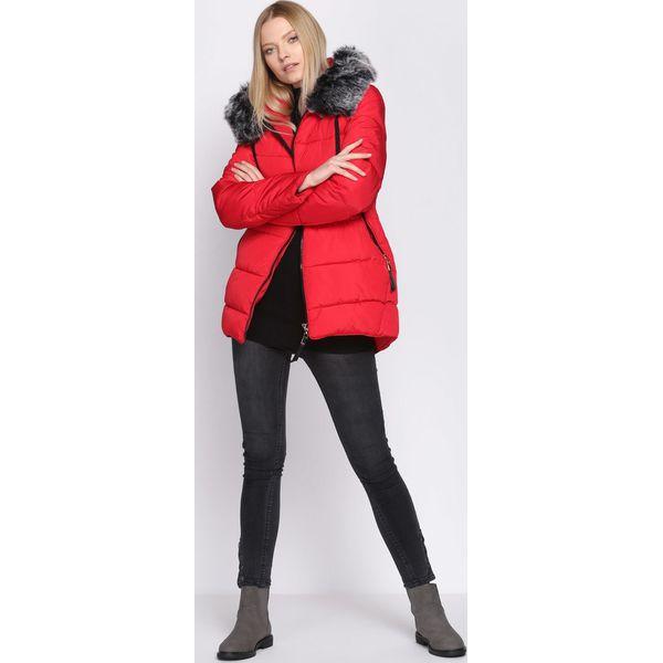 b787001609 Czerwona Kurtka Experiment - Czerwone kurtki damskie marki Born2be ...