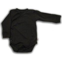Body kimono z długim rękawem Czarna Owca r. 74 cm (NCO-01). Czarne body niemowlęce Nanaf Organic, z długim rękawem. Za 42.29 zł.