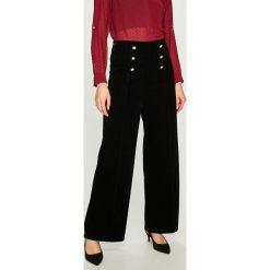 Answear - Spodnie. Czarne spodnie materiałowe damskie ANSWEAR, z materiału. Za 149.90 zł.