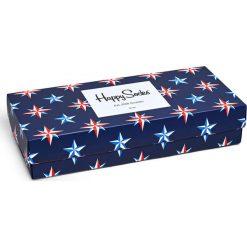Happy Socks - Skarpetki Nautical Gift Box (4-pak). Niebieskie skarpety damskie Happy Socks, z bawełny. Za 119.90 zł.