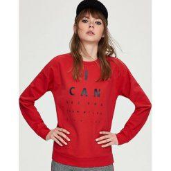 Bluza z nadrukiem - Czerwony. Bluzy damskie marki Sinsay. W wyprzedaży za 24.99 zł.