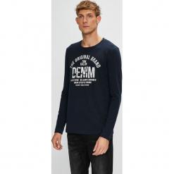 Tom Tailor Denim - Longsleeve. Szare bluzki z długim rękawem męskie Tom Tailor Denim, z nadrukiem, z bawełny, z okrągłym kołnierzem. W wyprzedaży za 69.90 zł.