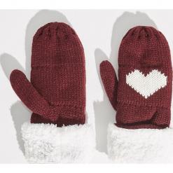Rękawiczki z jednym palcem - Bordowy. Czerwone rękawiczki damskie Sinsay. Za 24.99 zł.