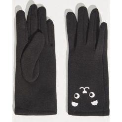 Rękawiczki z aplikacją - Czarny. Czarne rękawiczki damskie Sinsay, z aplikacjami. Za 24.99 zł.