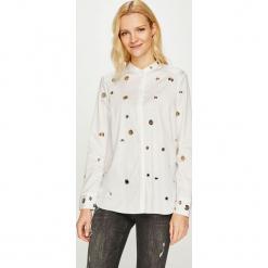 Guess Jeans - Koszula. Szare koszule damskie Guess Jeans, z aplikacjami, z bawełny, casualowe, ze stójką, z długim rękawem. Za 459.90 zł.