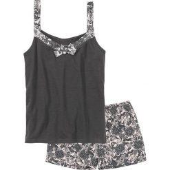 Piżama z krótkimi spodenkami bonprix szaro-jasnoróżowy z nadrukiem. Piżamy damskie marki MAKE ME BIO. Za 34.99 zł.
