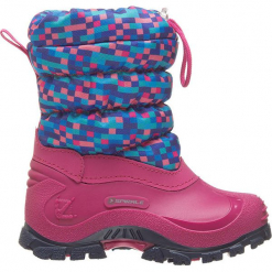 """Botki zimowe """"Sidney"""" w kolorze niebiesko-różowym. Czerwone botki dziewczęce Spirale, z materiału. W wyprzedaży za 72.95 zł."""