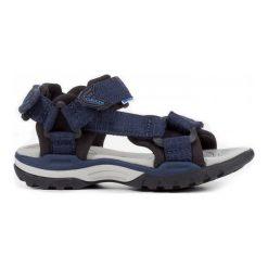 Geox Sandały Chłopięce Borealis 30 Niebieski. Niebieskie sandały chłopięce Geox, z materiału. W wyprzedaży za 169.00 zł.