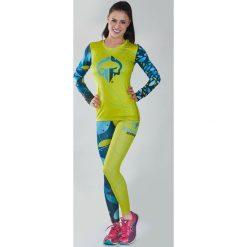 """Ground Game Sportswear Koszulka damska Rashguard """"Flowers"""" długi rękaw Żółto-niebieska r. L. T-shirty damskie Ground Game Sportswear. Za 109.00 zł."""