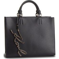 Torebka KARL LAGERFELD - Signature Shopper 86KW3030 Black/Gold. Czarne torebki shopper damskie KARL LAGERFELD, ze skóry. Za 1,799.00 zł.