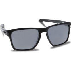 Okulary przeciwsłoneczne OAKLEY - Sliver Xl OO9341-05 Polished Black/Black Iridium. Czarne okulary przeciwsłoneczne męskie Oakley, z tworzywa sztucznego. W wyprzedaży za 449.00 zł.
