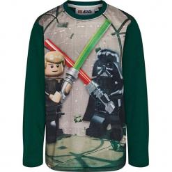 Koszulka w kolorze khaki. Zielone t-shirty dla chłopców marki Lego Wear Fashion, z bawełny, z długim rękawem. W wyprzedaży za 42.95 zł.